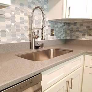 redesign kitchen and add a backsplash